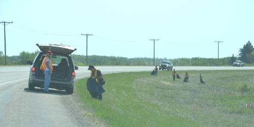 ESTERHAZY:- The grads are cleaning up!