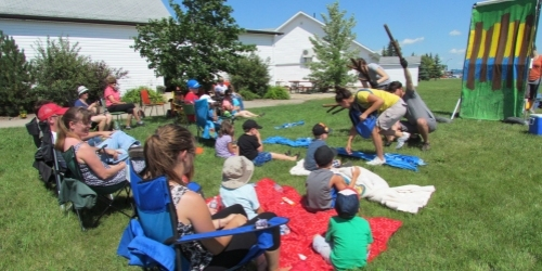ESTERHAZY:- Cool play, hot day - In the park.