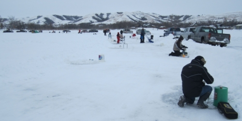 BIRD'S POINT:- Lions ice fishing derby was great success