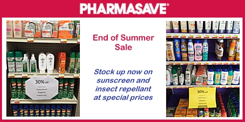 ESTERHAZY:- End of Summer Sale on at Pharmasave
