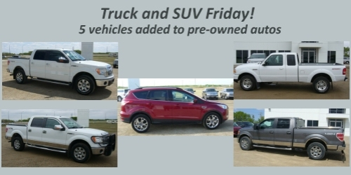 AUTOMOTIVE:- Plenty of trucks added to pre-owned autos today