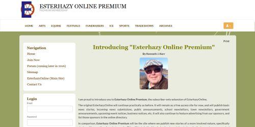 Introducing... Esterhazy Online Premium