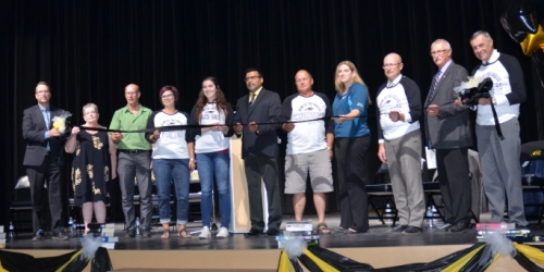 LANGENBURG:- The ribbon is cut at the new Langenburg Central School